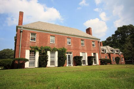 Old brick country english mansion