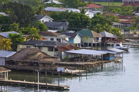 Sleepy caribbean mexican fishing village Imagens