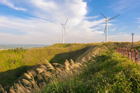 電力発電風力タービン 写真素材