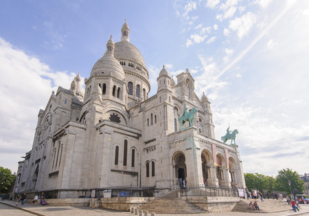 coeur: Sacre Coeur Cathedral in Montmartre Paris France
