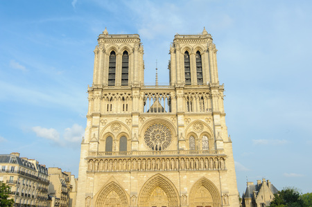 french ethnicity: Notre Dame Cathedral in Paris, France