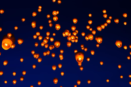 Pingsi Sky Lantern Festival a Taipei, Taiwan Archivio Fotografico - 44100918