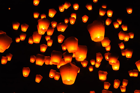 lantern festival: PingSi Sky Lantern Festival in Taipei, Taiwan