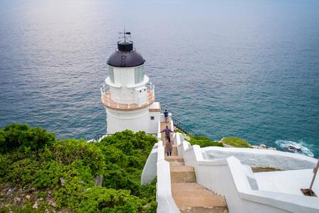 navigational light: Dongyong Lighthouse on the coastline in Matsu, Taiwan
