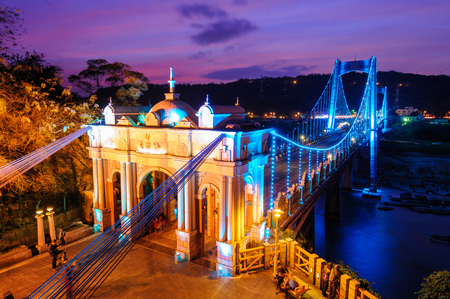 Daxi suspension bridge in taoyuan
