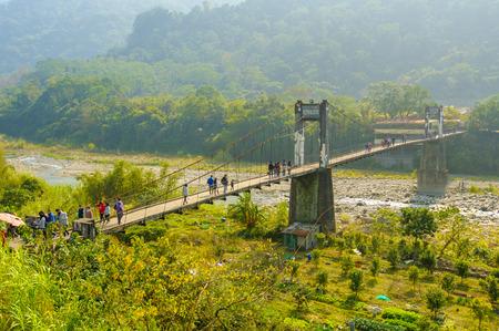permanence: neiwan suspension bridge in hsinchu