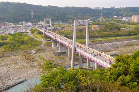 permanence: Daxi suspension bridge in taoyuan