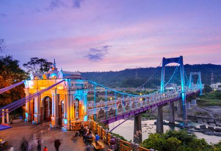 桃園大渓吊り橋 写真素材