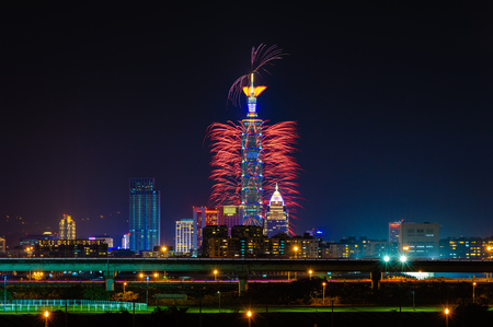 Taipei 101 firework show