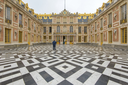 Outside view of palace Versailles in Paris Editorial