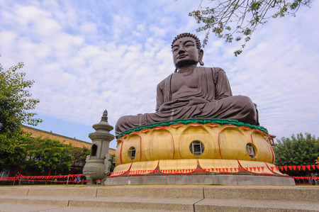 the big Buddhist statue in changhua, taiwan