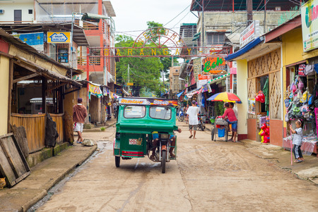 philippines: street view of Coron town in Palawan, Philippines.
