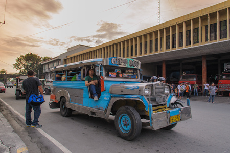 means of transportation: Jeepneys are the most popular means of public transportation in Philippines. Editorial