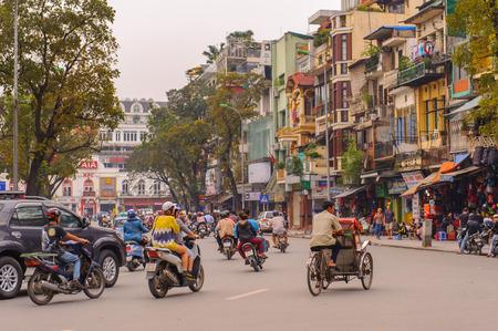 ベトナムの首都ハノイのストリート ビュー。