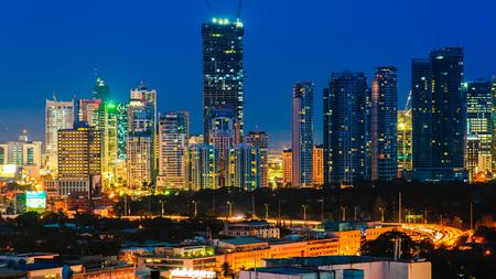 フィリピン マニラ市のスカイライン 写真素材