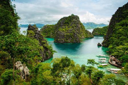 coron: landscape of Coron, Palawa, Philippines Stock Photo