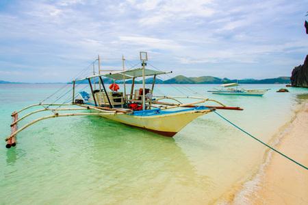 coron: scene of beach in coron, philippines