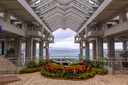 Entrance of Okinawa Ocean Expo Park Editorial