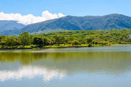 pipa: a lake under the clear sky