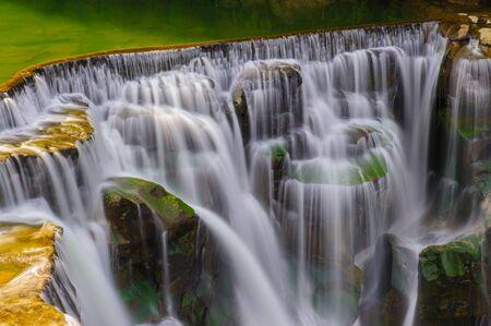 water fall: shifen waterfall in pingxi, Taipei, Taiwan