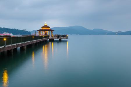 台湾の日月潭風景