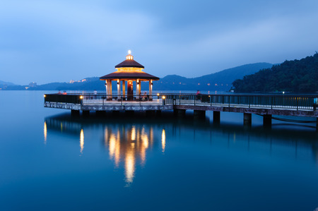 long lake: Landscape of Sun Moon Lake in Taiwan