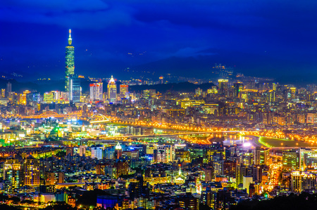 Night scene of Taipei city
