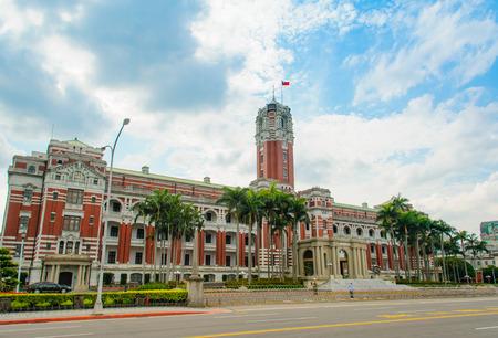 台北、台湾の大統領オフィスビル 写真素材