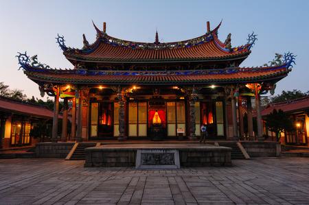 temples: Night scene of Confucius Temple in Taipei, Taiwan
