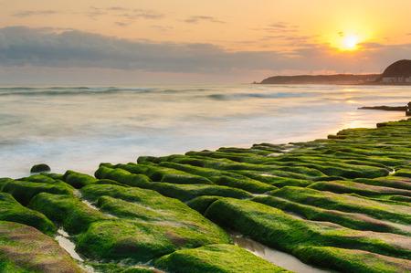 Coastal stone trench of Laomei coast in Taipei, Taiwan 写真素材