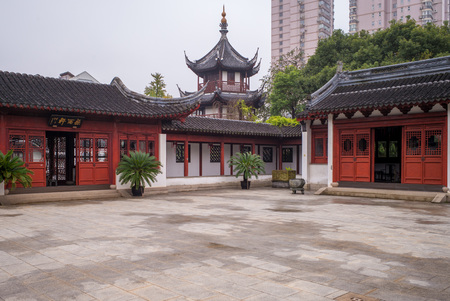 immense: Wen Miao confucian temple in shanghai, china Editorial