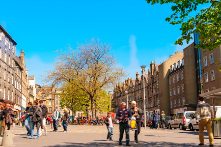 gb: street view of Edinburgh, Scotland, UK
