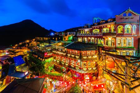 台湾台北九份村の夜景