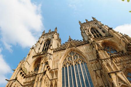 york minster: York Minster Yorkshire England by the blue sky
