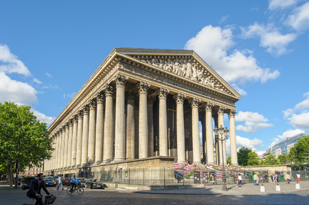 La Madeleine church in Paris, France