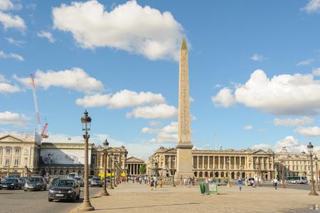 concorde: Luxor obelisk in Place de la Concorde in Paris Editorial
