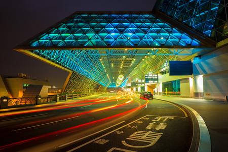 the night light: airport at night