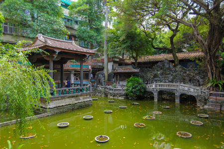 Traditional house in Lin family Garden in Taipei, Taiwan