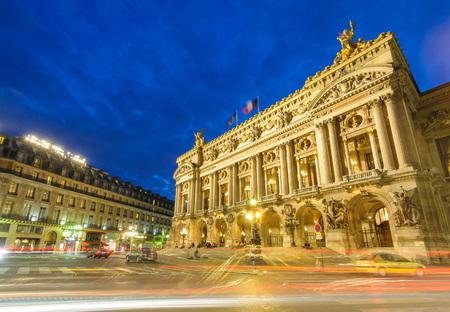palais: Night view of the Palais Garnier, Opera in Paris, France