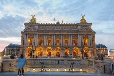 palais garnier: Night view of the Palais Garnier, Opera in Paris, France
