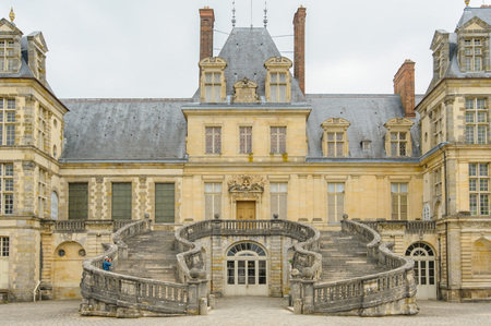 Palace of Fontainebleau near Paris in France Editorial