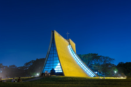 tree service: Luce Memorial Chapel on the campus of Tunghai University in Taichung, Taiwan.