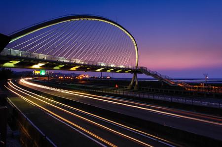 megyeri: night view of Hsinchu with a beautiful bridge