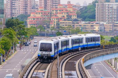 Line 1 of Taipei Metro 版權商用圖片