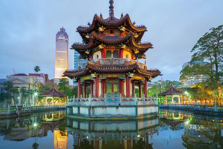 night view of 228 park in Taipei 写真素材