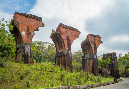 長い登橋、台湾苗栗県の遺跡 写真素材 - 51546576