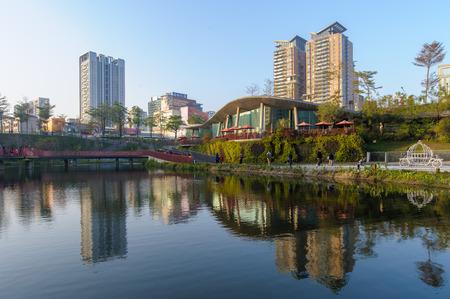 台湾・台中市のスカイライン