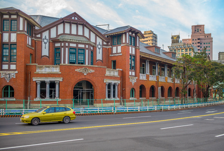 oficina antigua: Taiwan rail Museum in Taipei city. It was the Railway Department of the Traffic Bureau