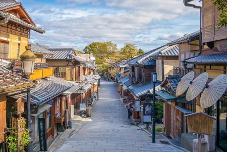 Ulica widok miasta kyoto Zdjęcie Seryjne