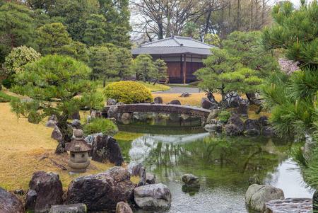 nijo: Ninomaru Garden in Nijo Castle in Kyoto, Japan